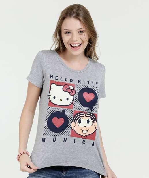Image_Blusa Feminina Estampa Hello Kitty e Mônica Sanrio