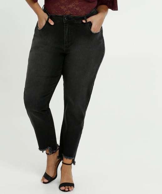 Image_Calça Feminina Jeans Strass Cigarrete Plus Size Marisa