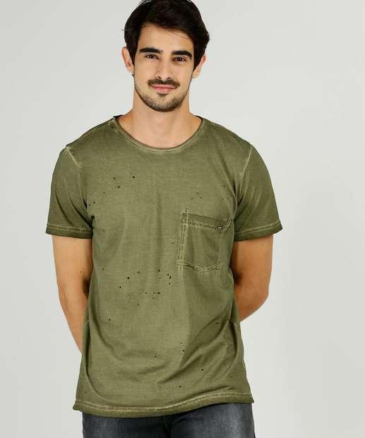 Image_Camiseta Masculina Recorte Bolso Manga Curta Zune Jeans
