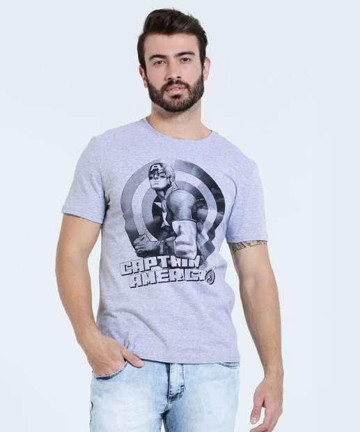 Image_Camiseta Masculina Capitão América Marvel