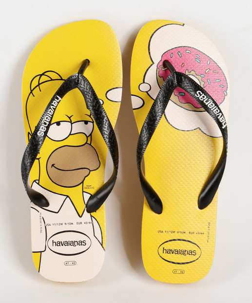00d717e5f Chinelo Masculino Simpsons Havaianas 1652 | Marisa
