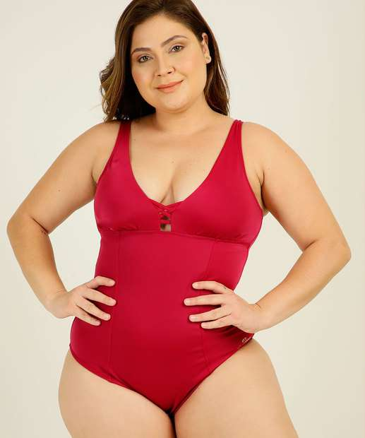 Image_Maiô Feminino Plus Size Alças Finas Banho de Mar