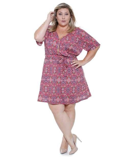 Image_vestido feminino decote v Plus Size marisa