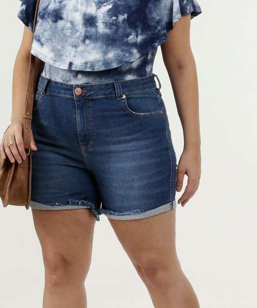 Image_Short Feminino Jeans Barra Dobrada Plus Size Marisa