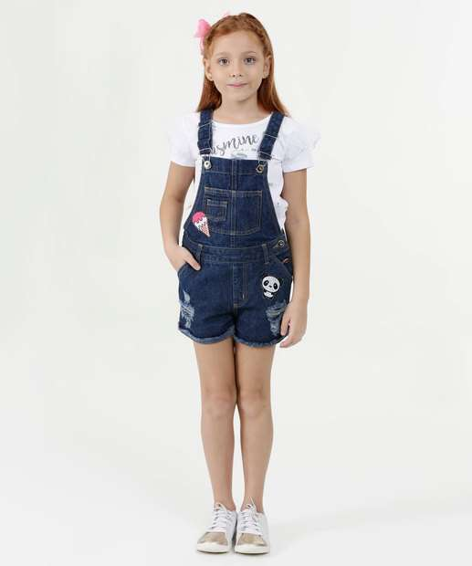 Image_Jardineira Infantil Jeans Destroyed Patches Marisa