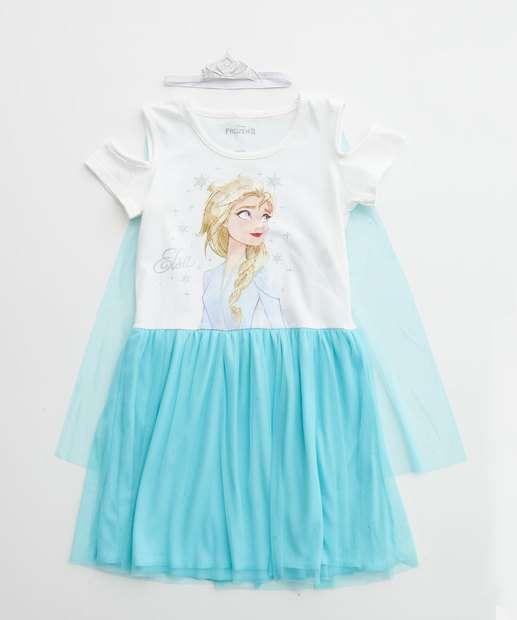 Image_Vestido Infantil Elsa Frozen Brinde Disney Tam 4 a 10