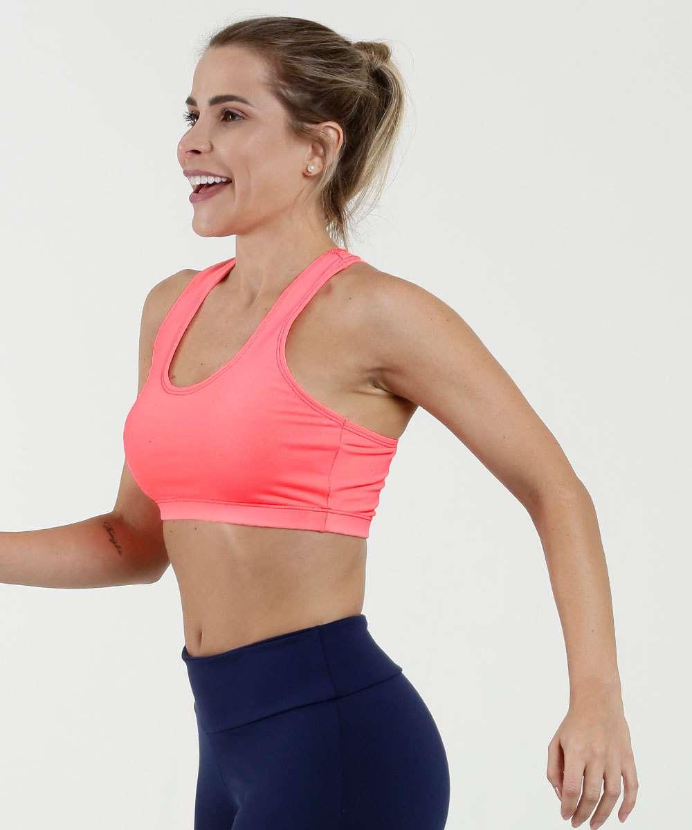 Top Feminino Fitness Neon Nadador Marisa
