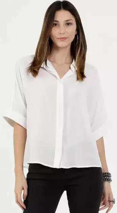 Camisa Branca Casual