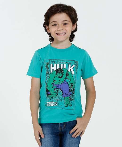 Image_Camiseta Infantil Manga Curta Estampa Hulk Marvel