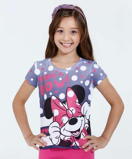 Image_Blusa Infantil Estampa Minnie Bolinha Disney