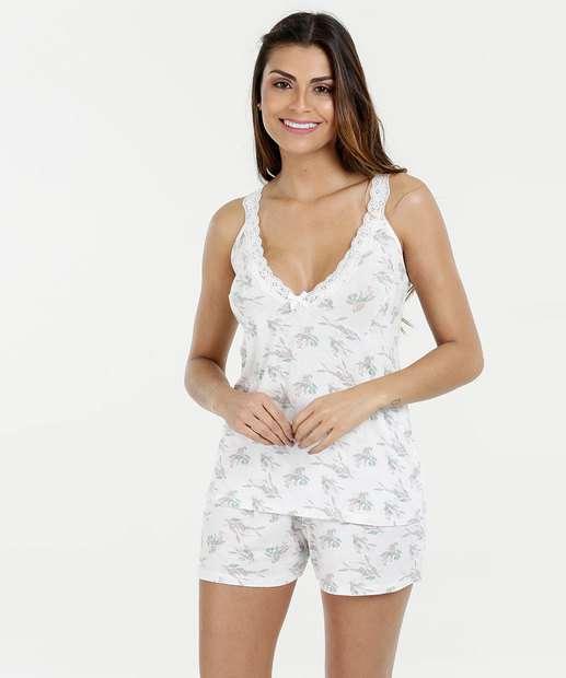 Image_Pijama Feminino Short Doll Estampa Floral Marisa