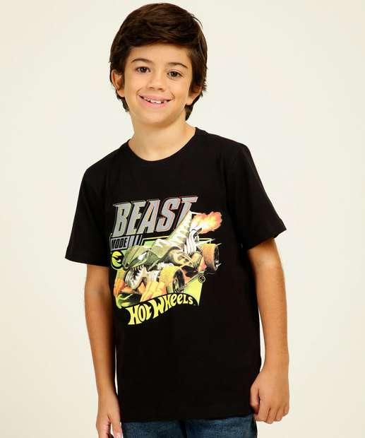 Image_Camiseta Infantil Estampa Frontal Hotwheels Tam 4 a 10