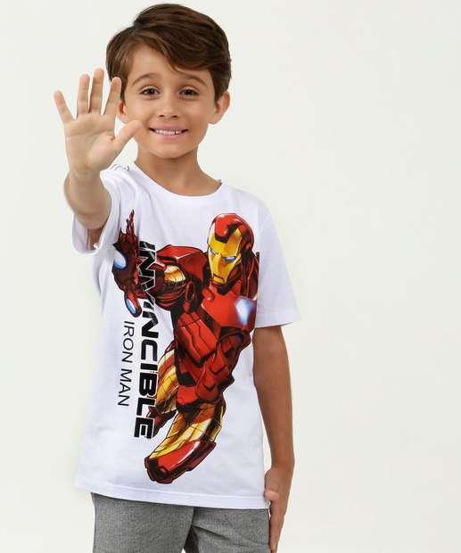 Image_Camiseta Infantil Homem de Ferro Manga Curta Marvel