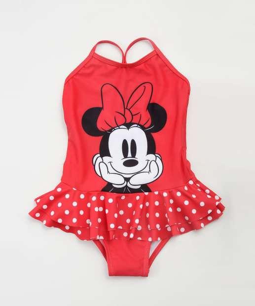 Image_Maiô Infantil Estampa Minnie Babado Proteção UV Disney