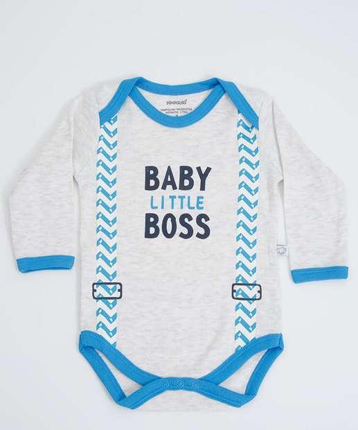 Image_Body Infantil Bebê Estampa Frontal Manga Curta Pimpolho
