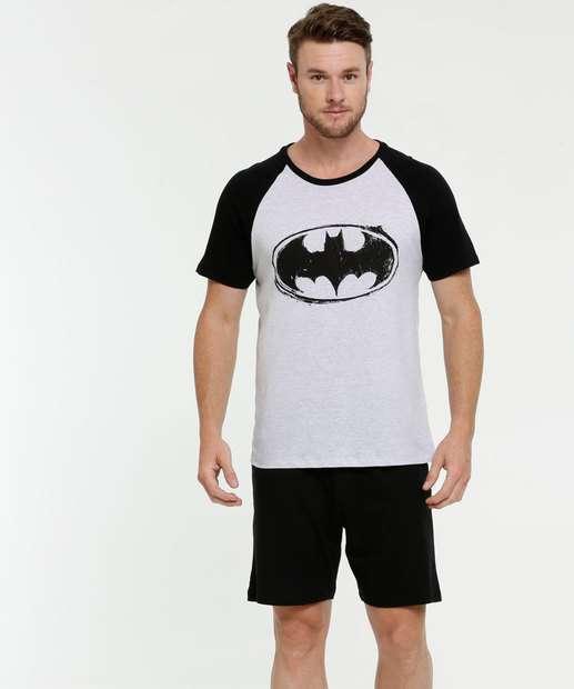 Image_Pijama Masculino Estampa Batman Manga Curta Liga da Justiça