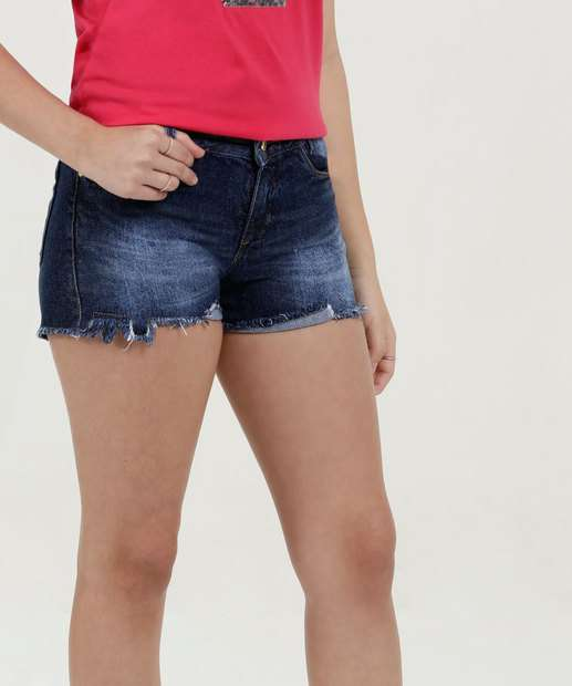 Image_Short Juvenil Jeans Barra Desfiada