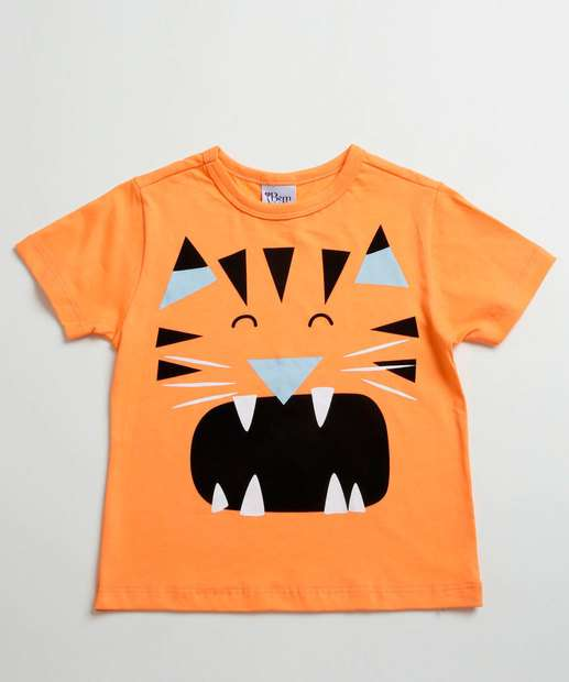 Image_Camiseta Infantil Estampa Tigre Manga Curta