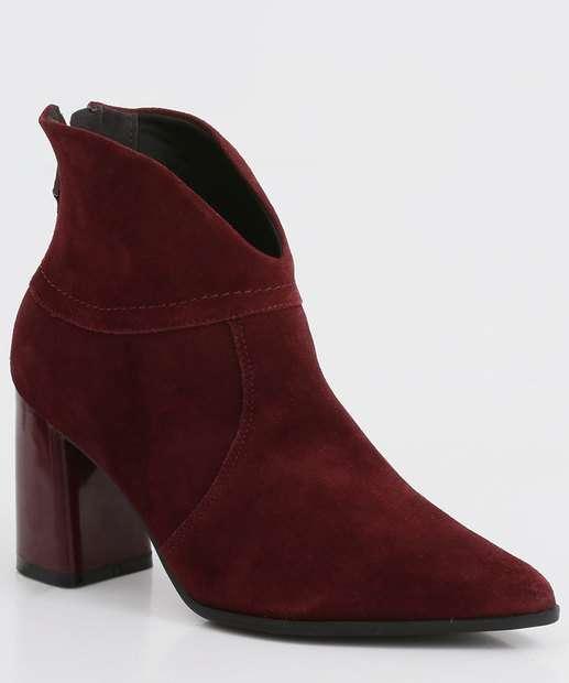 Image_Bota Feminina Ankle Boot Bico Fino Salto Grosso Ramarim