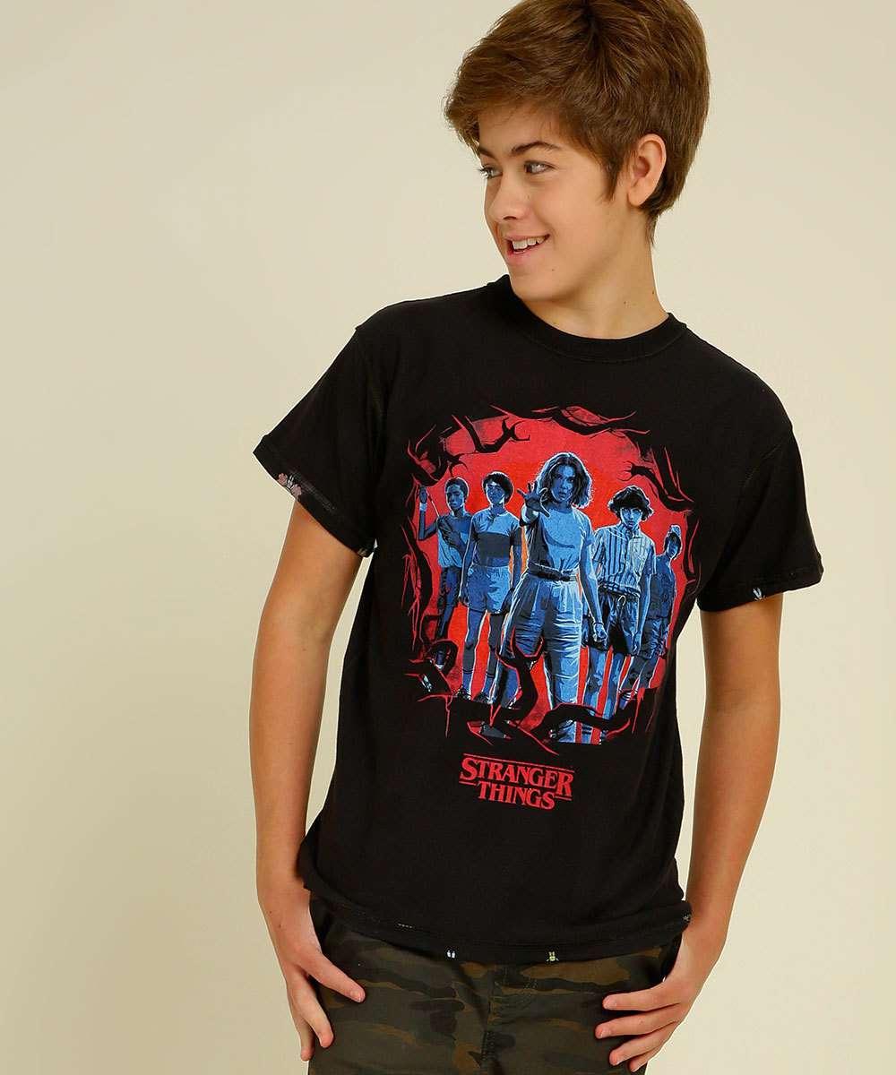 Camiseta Stranger Things Piticas Masculina e Juvenil