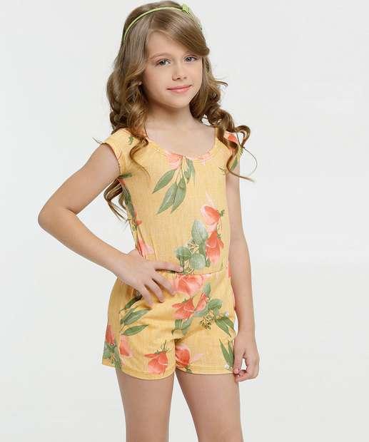 Image_Macaquinho Infantil Estampa Floral Ombro a Ombro