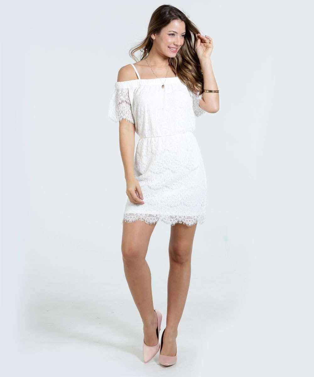 1586a0998 Vestido Feminino Ciganinha Renda Marisa | Marisa