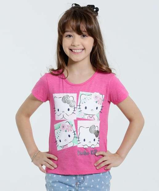 Image_Blusa Infantil Brilho Estampa Hello Kitty