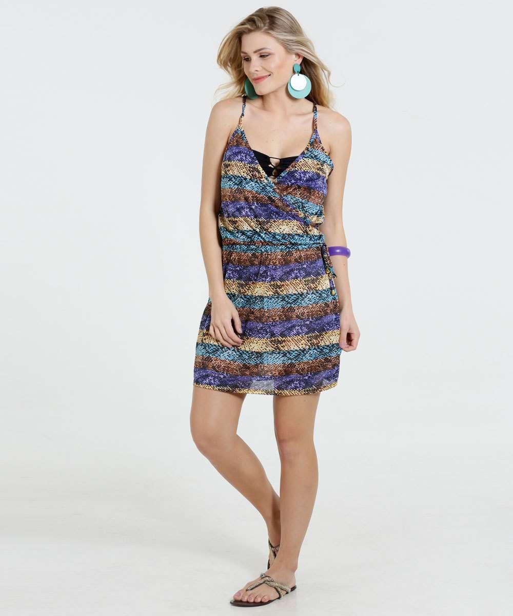 a81712f49 Vestido Feminino Crepe Saída de Praia Marisa | Menor preço com cupom