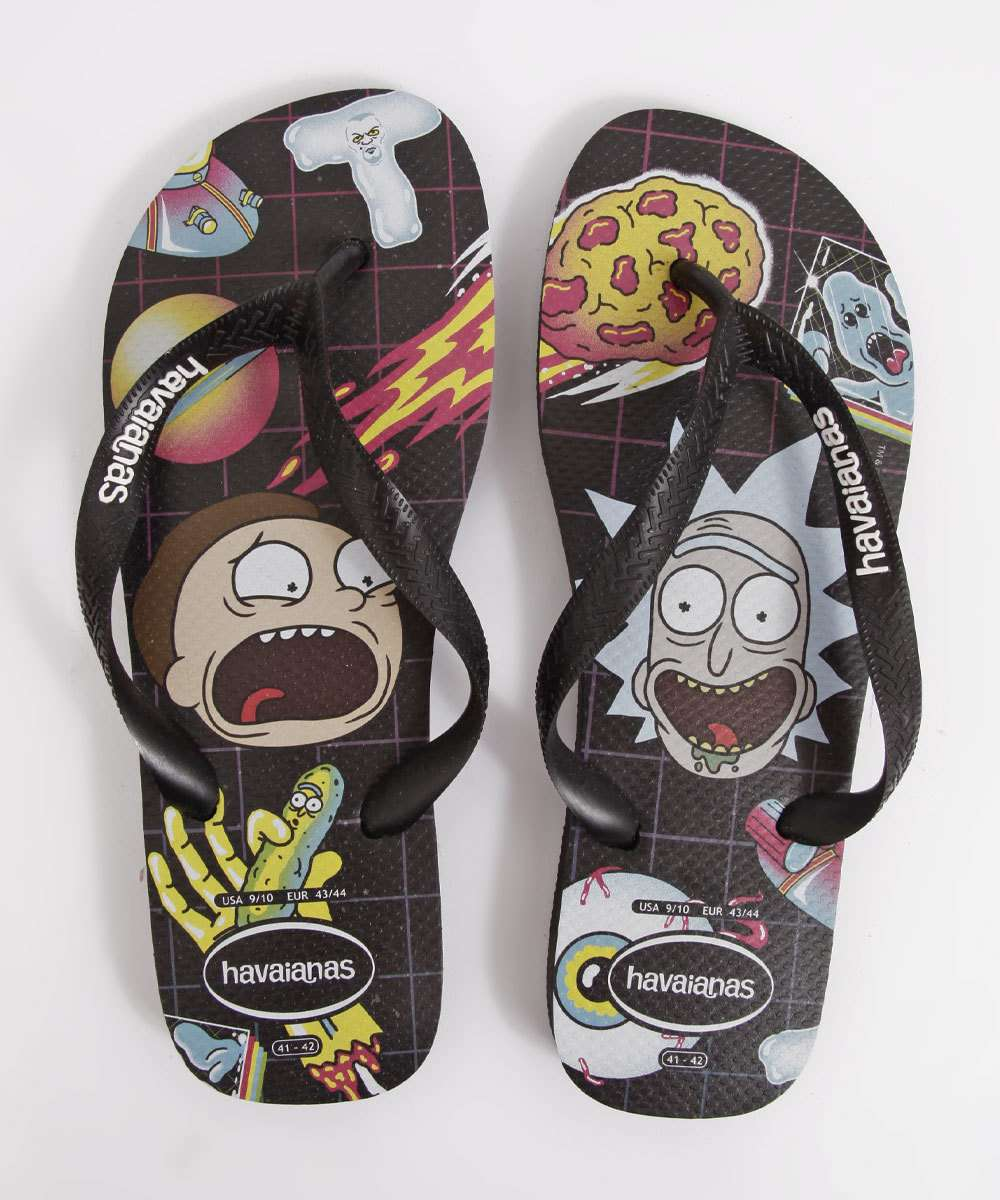 Chinelo Havaianas Masculino Rick And Morty Top
