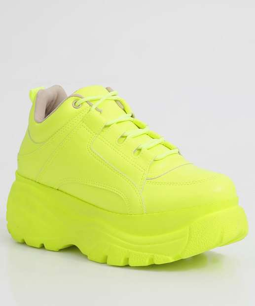 Image_Tênis Feminino Sneaker Plataforma Neon Zatz