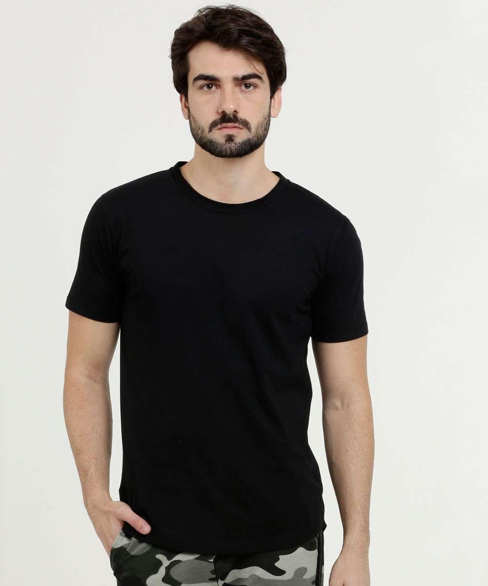 Camiseta Masculina Básica Manga Curta Los