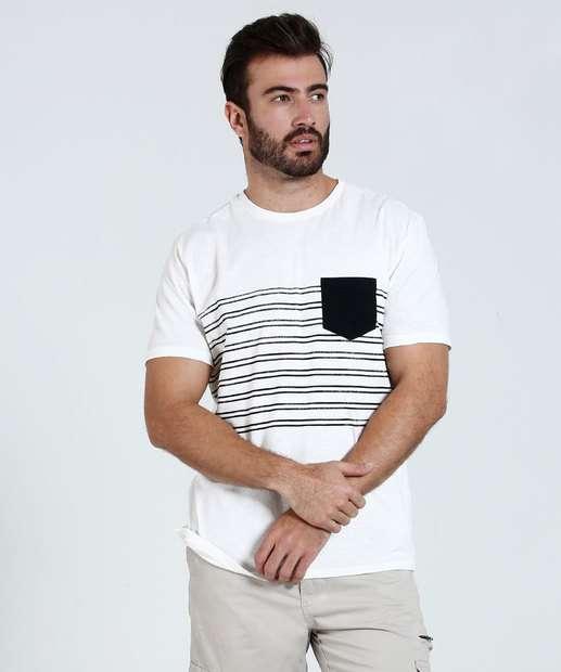 Image_Camiseta Masculina Listrada Bolso Marisa