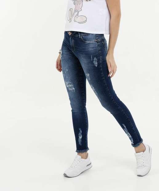 Image_Calça Feminina Jeans Skinny Destroyed