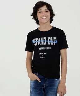 Camiseta Juvenil Estampa Frontal Manga Curta Marisa
