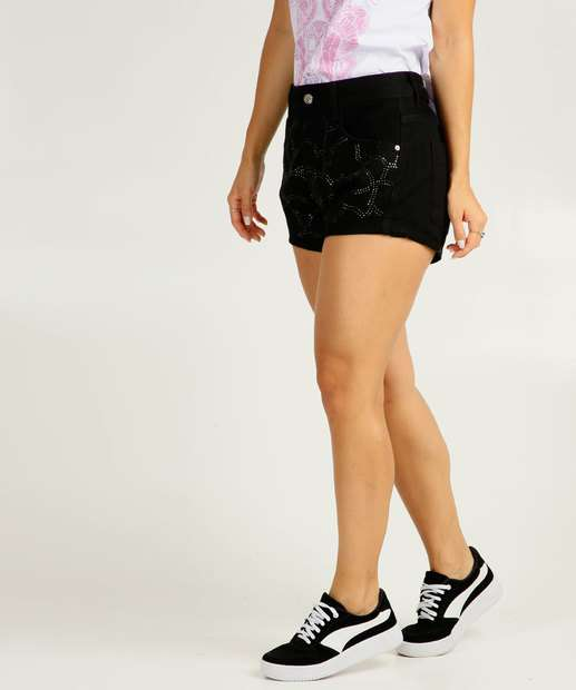 Image_Short Feminino Strass Barra Dobrada Disparate