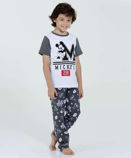 Image_Pijama Infantil Manga Curta Estampa Mickey Marisa