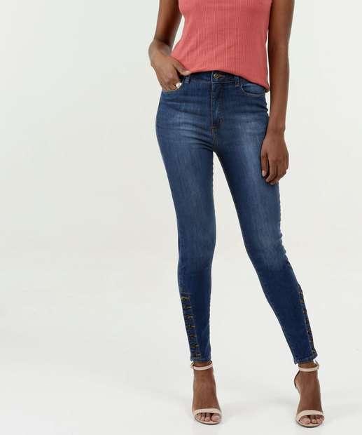 Image_Calça Feminina Jeans Skinny Botões Razon