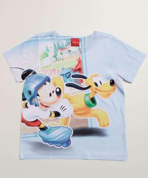 Image_Camiseta Infantil Estampada Mickey Manga Curta Disney