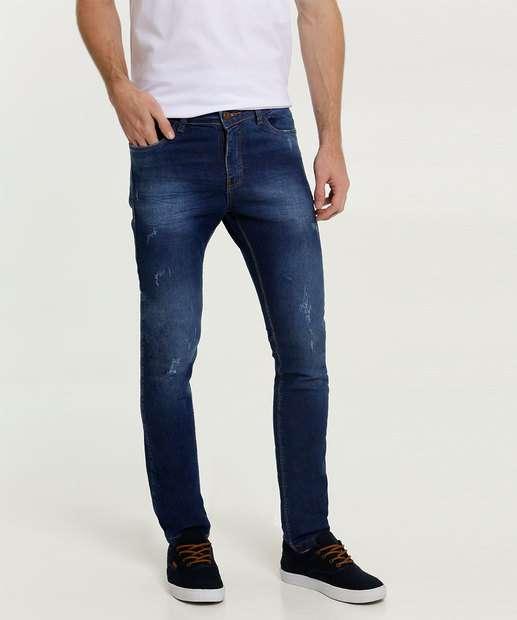 Image_Calça Masculina Jeans Puídos Bolsos