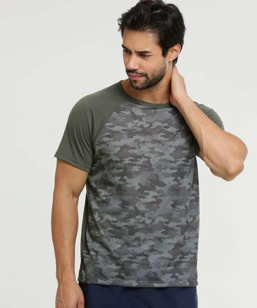 Image_Camiseta Masculina Fitness Estampa Camuflada MR