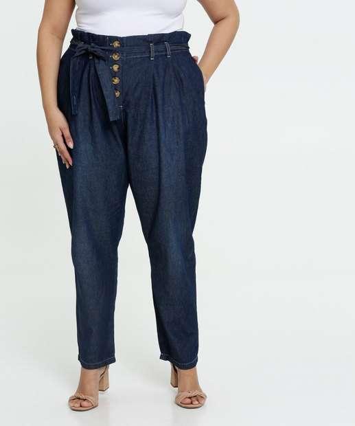 Image_Calça Jeans Clochard Feminina Plus Size