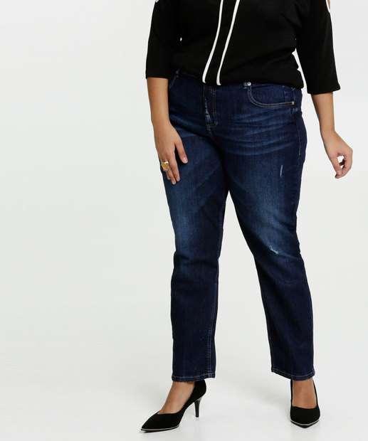 Image_Calça Feminina Jeans Cigarrete Puídos Plus Size Marisa