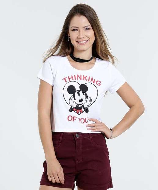 Image_Blusa Feminina Cropped Estampa Mickey Disney