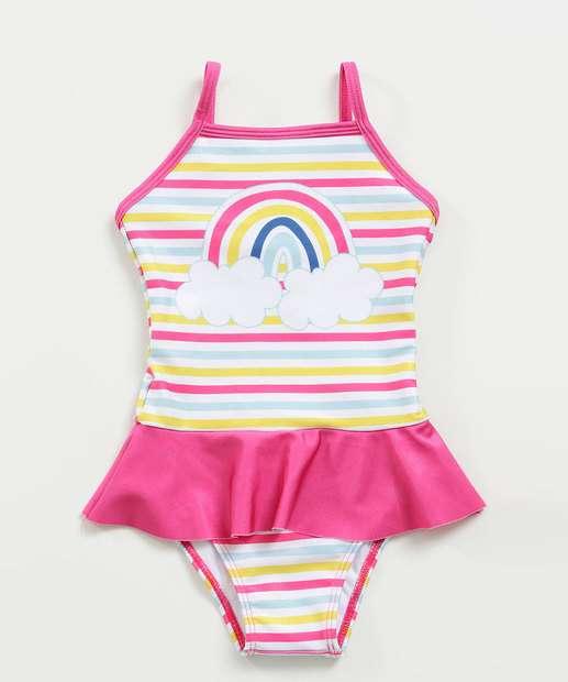 Image_Maiô Infantil Estampa Arco Íris Proteção UV Marisa