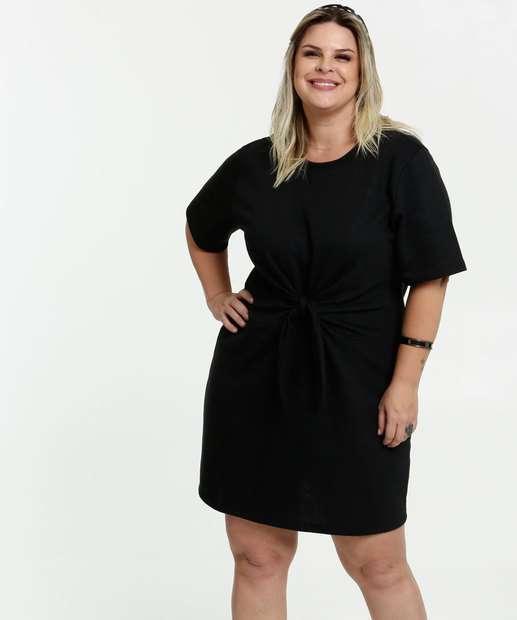 Image_Vestido Feminino Moletinho Amarração Plus Size