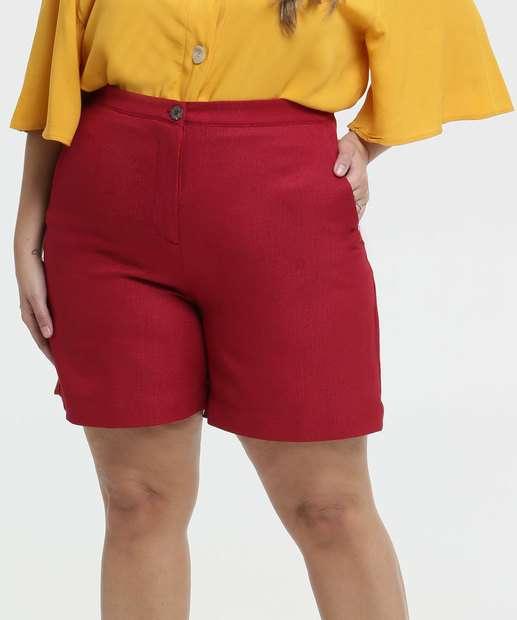 Image_Bermuda Feminino Linho Bolsos Plus Size