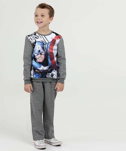 Image_Conjunto Infantil Moletom Estampa Capitão America Marvel