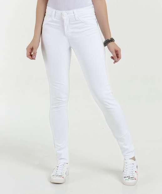 Image_Calça Feminina Sarja Skinny Cintura Alta Five Jeans