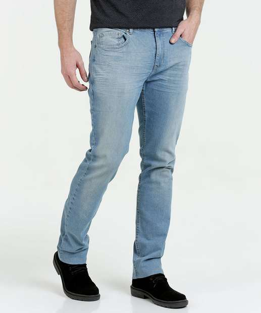 Image_Calça Masculina Jeans Stretch Nervuras Marisa