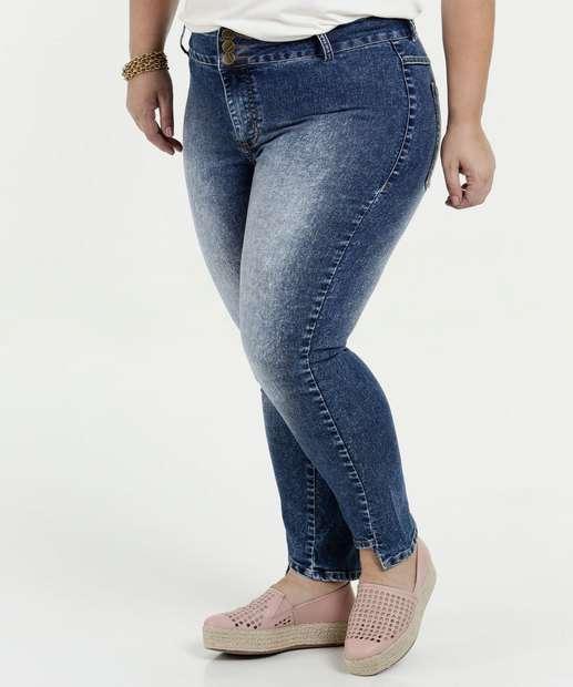 Image_Calça Feminina Jeans Skinny Cintura Média Plus Size Marisa